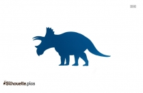 Triceratops Silhouette Image Free Download