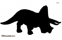 Triceratops Silhouette Vector And Graphics