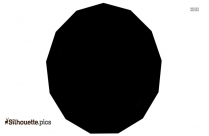 16 Sided Shape Clipart | Tridecagon Silhouette