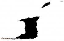 Tonga Map Silhouette Art