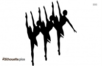 Triple Ballet Dancer Silhouette Clip Art