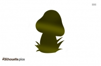 Trippy Mushroom Vector Silhouette Image