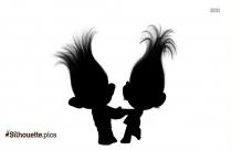 Creek Troll || Trolls Characters Silhouette