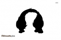 Trolls Satin Silhouette Drawing