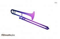 Cartoon Trombone Silhouette