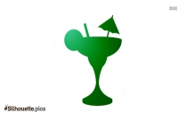 Golf Umbrella Vector Silhouette