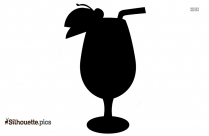 Tropical Drink Clipart, Wine Glass Silhouette Picture