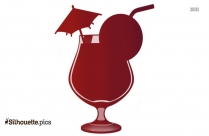 Tropical Drink Vector Silhouette