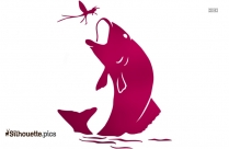 Trout Fish Silhouette Clipart