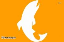 Trout Fish Silhouette Art