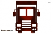 Truck Front View Silhouette Image