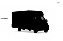 Cartoon Truck Silhouette Clipart
