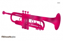 Trumpet Instrument Silhouette Drawing