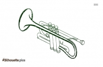 Trumpet Silhouette Vector And Graphics