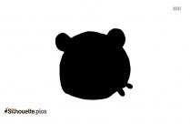 Cartoon Pig Silhouette Art, Vector