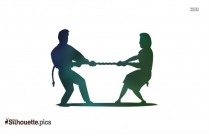 Tug Of War Silhouette Icon