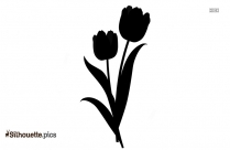 Tulip Flower Silhouette Vector And Graphics