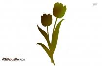 Daffodil Border Silhouette