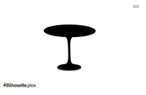 Tulip Dining Table Silhouette Vector And Graphics