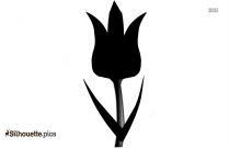 Tulip Flower Silhouette Free Vector Art