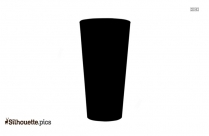 Alcohol Bottle And Glass Silhouette