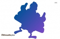 Turkey Dancing Silhouette Image