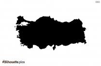 Tunisia Map Black And White