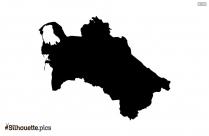 Turkey Map Silhouette Art