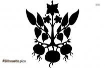 Black And White Carrot Leaf Silhouette