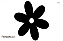 Turquoise Flower Silhouette Vector And Graphics