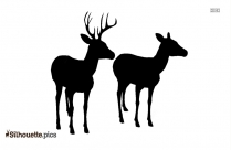 Deer Jumping Outline Drawing
