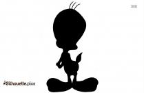 Tweety Bird Classic Cartoon Silhouette
