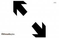 Two Arrows Pointing Opposite Directions Silhouette