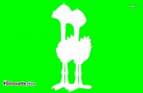 South African Ostrich Silhouette