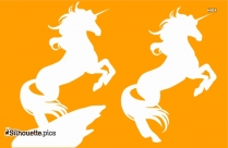 Two Unicorn Drawing Silhouette