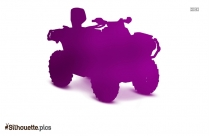 Atv Riding Silhouette Art, Terrain Vehicle Picture