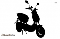 Black And White Scooter Silhouette