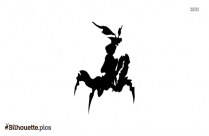 Prayer Mantis Silhouette Drawing