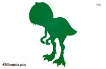 Tyrannosaurus Rex Cartoon Silhouette