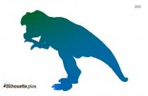 Tyrannosaurus Rex Elephanta Silhouette