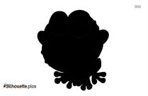 Cartoon Frog Silhouette Vector