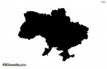 Uganda Map Silhouette