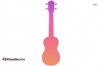 Black And White Ukulele Clipart Silhouette