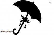 Open Umbrella Silhouette Icon