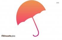 Cute Cartoon Umbrella Symbol Silhouette