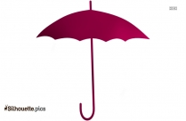 Umbrella Clipart, Open Umbrella Silhouette