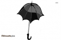 Victorian Beach Umbrella Silhouette Illustration