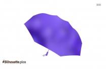 Black Cartoon Closed Umbrella Silhouette Image
