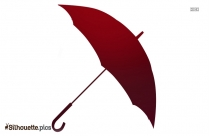 Cartoon Umbrella Art Silhouette