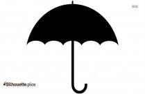 Rain Umbrella Silhouette Background
